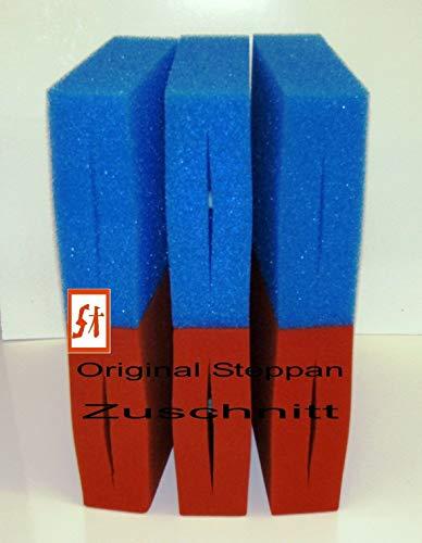 Steppan 6 Stück Filterschwamm 3 x Blau und 3 x Rot geschlitzt passend für Oase Biotec 10 25 x 25 x 8 cm Blau Grob = PPI 10 Rot Fein = PPI 30 1 Set