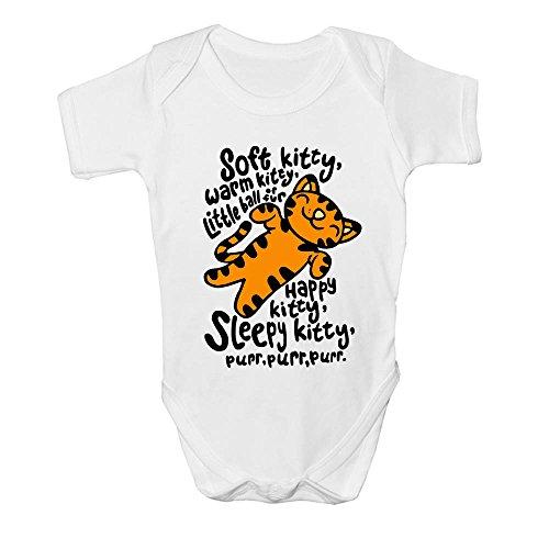 DKISEE Unisex Baby Body Big Bang Theory Soft Kitty Caliente Gatito Blanco Divertido Mameluco De Manga Corta Bebé Mono De Bebé De 6 Meses