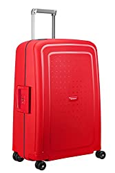 SAMSONITE S'Cure Spinner 69 / 25 Case, 69 cm, 79 L, Capri Red / Navy Blue