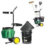 UPP Garten-Werkzeug-Trolley - Transport & Aufbewahrung von Gartenwerkzeug - Transportkarre/ Sackkarre bis max. 40 kg belastbar - Gartenwagen & Werkzeugwagen inkl. praktischer 12 Fächer Tasche