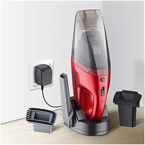 Nai-tripod Aspirador De Mano para Automóvil Inalámbrico, Recargable Y Húmedo Y Seco, Tanto para Uso Doméstico como Automotriz, Ruido Ultrabajo (Color : Red)