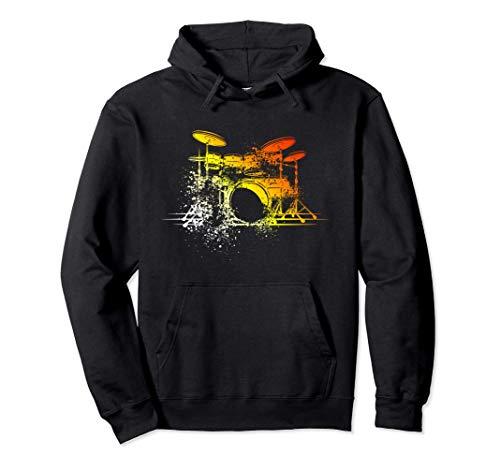 Geschenk für Schlagzeuger | Drumsticks Vintage Schlagzeug Pullover Hoodie