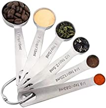 6 pcs/set Measuring Spoons Stainless Steel Seasoning Coffee Tea Measuring Spoons With Scale Bakery Tool Kitchen Supplie