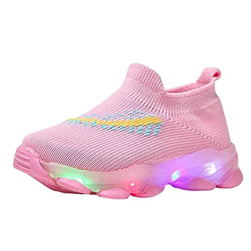 AIORNIY Sneakers Kinder Baby Mädchen Jungen Sportschuhe Atmungsaktive Mesh Schuhe Helle Led Luminous Sport Running Sneakers,Komfortabel Rutschfest Blinkende Turnschuhe Für Jungen/Mädchen