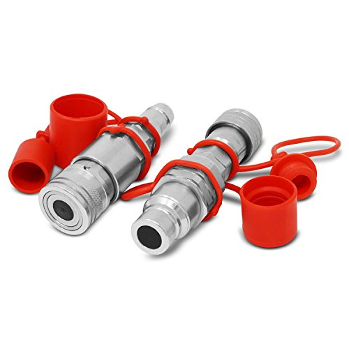 Flat Face ISO 16028 to Ag ISO 5675 Pioneer Style Hydraulic Quick Coupler Adapter Set
