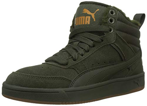 PUMA Herren Rebound Street V2 SD FUR Hohe Sneaker, Grün (Forest Night-Forest Night-Buckthorn Brown 02), 42 EU