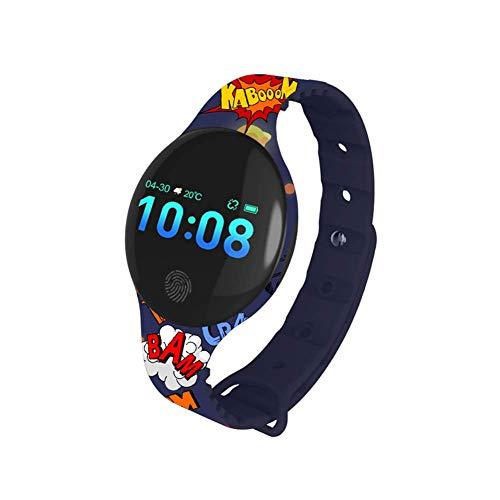 Vikan Fitness Tracker, Reloj de Pulsera con Monitor de frecuencia cardíaca, Impermeable, Pulsera Inteligente con Contador de Pasos, Contador de calorías, podómetro para niños, Mujeres y Hombres