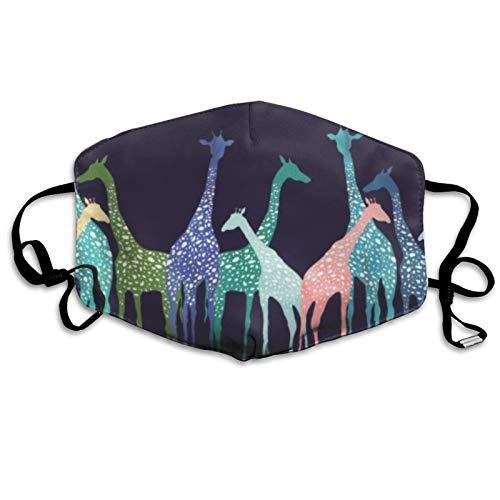 jhgfd7523 Cubierta para la boca, cubierta colorida jirafa, lavable, reutilizable para la boca, bufanda facial para nios y adultos