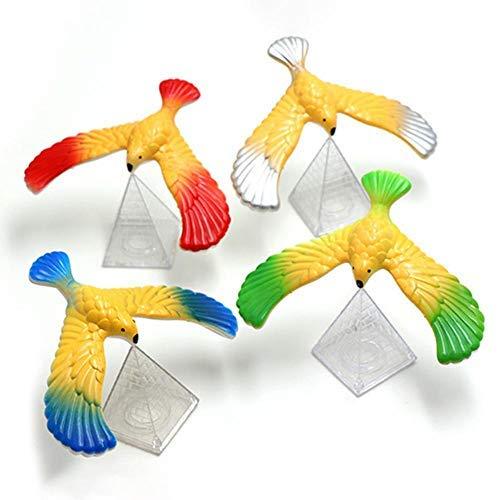 HAOT Balance Vogeladler Mit Pyramide Stehpult Spaß Kinder Erwachsene Trompete Klassisches Puzzle Spielzeug, 5er Pack, Zufällige Farbe