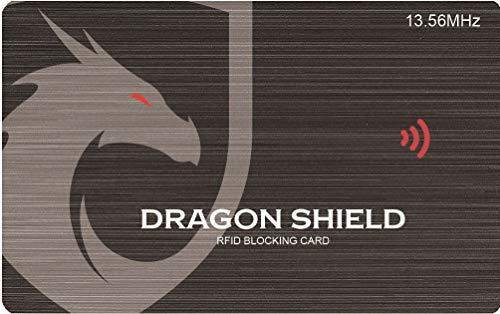 Protezione RFID/NFC blocker - Proteggi Bancomat Carta Credito carta d'identità Passaporto - Per Portafoglio Uomo Donna - Blocco Contactless - Military Grade Technology - Idea regalo (grigio)