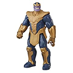 12-INCH SCALE DELUXE THANOS FIGURE – Imagine the terrible Titan warlord threatening earth with this 12-inch-scale Thanos figure, inspired by the classic character design from the Marvel comics. MARVEL COMICS-INSPIRED DESIGN – Fans can imagine the Mad...