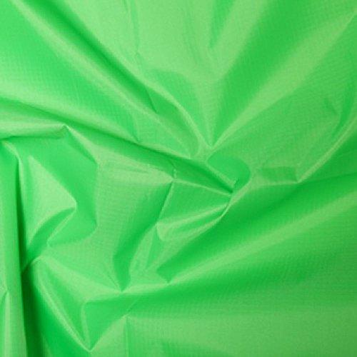 FLO Lime Gewebe der gefärbt Polyester Rip Stop reißfest wasserdicht 150cms breit–Meterware