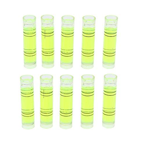F Fityle 10 Stücke Mini-Wasserwaage Acryl Wasserwaage Klassik horizontale/vertikale Libelle, Schockabsorber -Grün