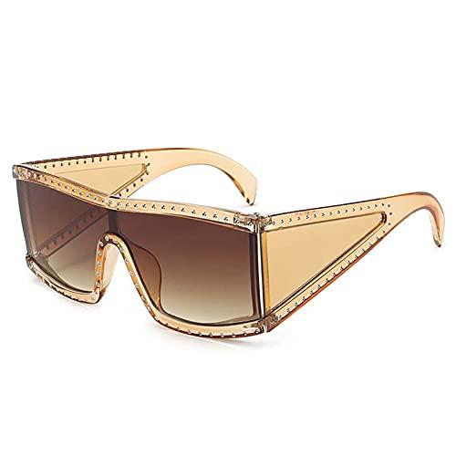 AMFG Gafas De Sol Grandes De Marco De Marco Gafas De Sol A Prueba De Solventes A Prueba De Viento A Prueba De Viento De Una Pieza Gafas Al Aire Libre (Color : A, Size : M)