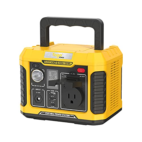 Togo Power Portable Power Station A240, 231Wh Backup Lithium Battery, 120V/200W Pure Sine Wave AC Outlet, Solar Generator Supply for Outdoors CPAP Camping Travel Hunting Emergency