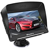 GPS Navigation for Car Truck 7 inch, Car GPS Free Lifetime Maps Update,8GB 256M Vehicle Car Navigation System with Spoken Turn-by-Turn Directions,Driver Alerts,Free North America,Canada,Mexico Map