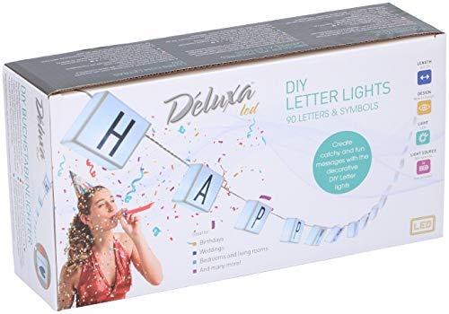 Letterlichtsnoer met 20 modules voor het plaatsen van letters, tekens en symbolen