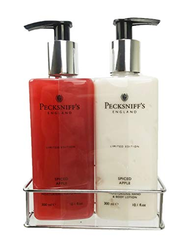 Pecksniffs Spiced Apple Hand Wash and Body Lotion Set