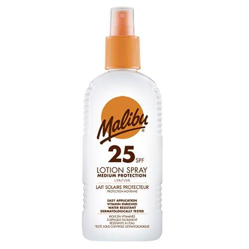 Malibu Sonnencreme SPF 25 Wasserbeständig UVA/UVB mittlerer Schutz 200ML