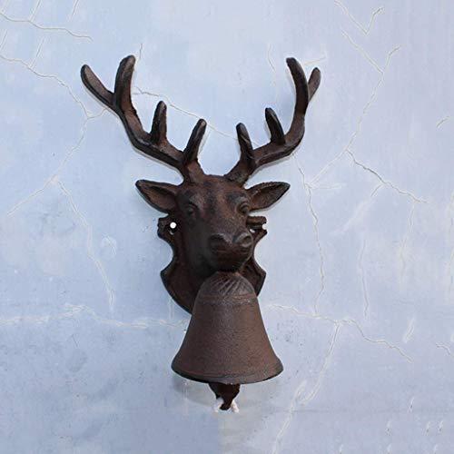 WYKDL Vintage moldeada rústica de hierro signo positivo de Bell del anillo...