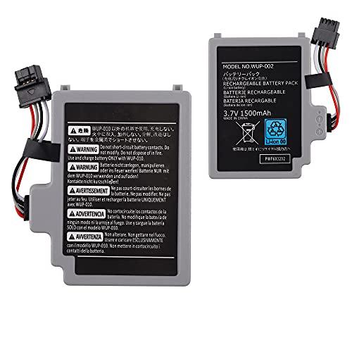 E-yiiviil Batería de repuesto WUP-012 compatible con Nintendo Wii U Gamepad Controller