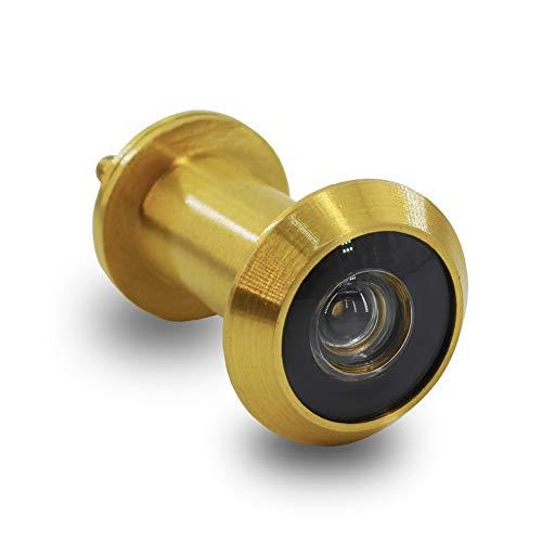 Mirilla para Puertas Acero Inoxidable de Espesor 35-55mm, con HD vision de 200 Grados Seguridad para Hogar(Dorado)