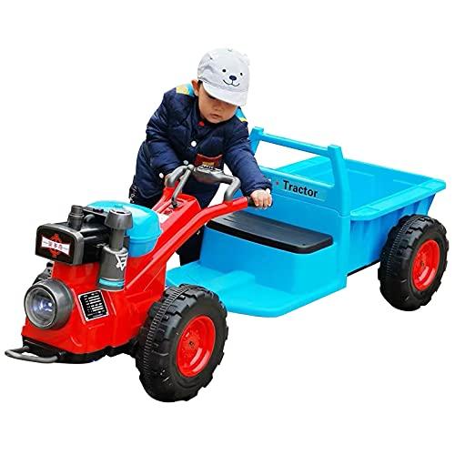 MYRCLMY Tractor para Caminar para Niños, Paseo En Tractor Y Remolque, Coche...