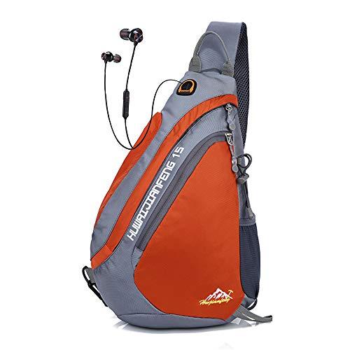 Sling Rucksack Sport | Sling Bag Dreieck | Outdoor Brusttasche Crossbag | Schulterrucksack für Damen und Herren | Sling Tasche Crossbody Rucksack für Camping Gym Reisen Wandern