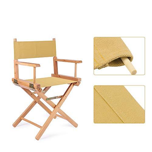 1 Paar Sitzbezüge für Regiestühle, Ersatzbezug aus Segeltuch, Stuhlschutz, 2 Größen (Khaki)