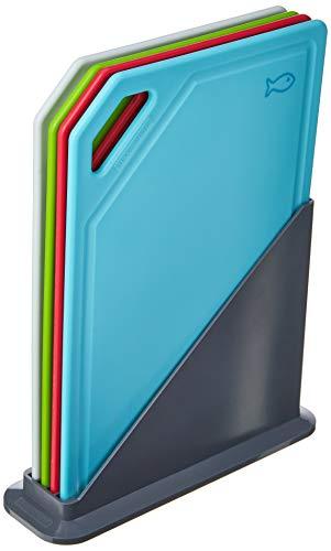 Conjunto de Tábuas de Corte com Suporte 5 Peças Tramontina Mixcolor Colorido