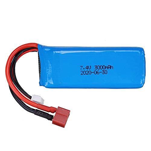 kusashangye Batteria di Ricambio RC 7. 4V 3000mAh 2S 20C Lipo Battery T per 144001 RC Toys Auto 7. 4V RC Toy Battery ( Color : 1pcs )