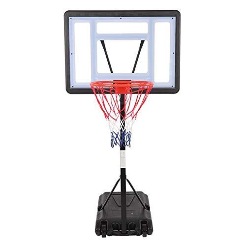 SH-RuiDu HY- B064S Portátil Piscina Móvil PVC Transparente Backboard Baloncesto Soporte (Altura de Ajuste de la Cesta 1. 15m - 1. 35m) Máximo Aplicable Para 7 Bola
