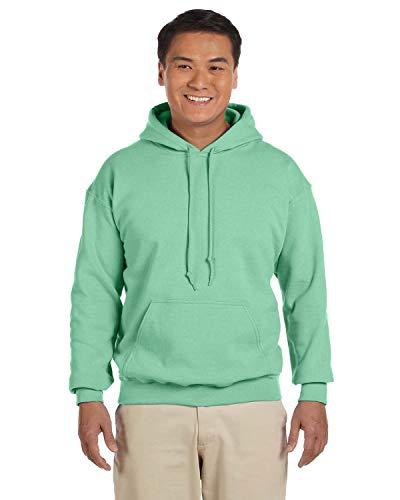 Gildan Mens 7.75 oz. Heavy Blend? 50/50 Hood (G185) -Mint Green -L
