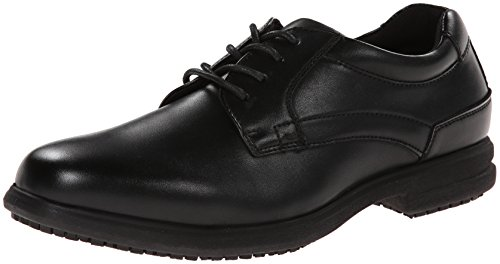Nunn Bush mens Sherman Slip-resistant Work Shoe Oxford Sneaker, Black, 11 US