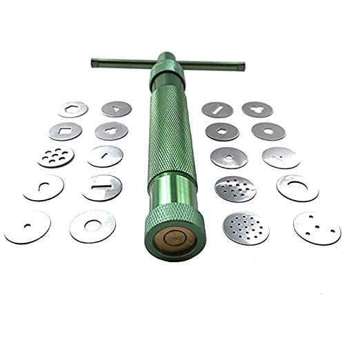HEVERP Stainless Steel Clay Extruder Sugar Paste Extruder Cake Fondant Decorating Tool Set