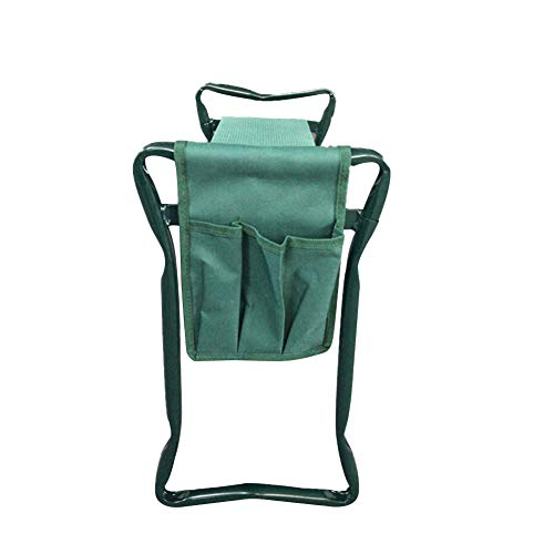 Garden Kneeler Sturdy Foldable Portable Bearing 150KG Heavy Duty Stool Gardening Soft Lightweight Protects Knees Outdoor EVA Foam Pad with Tool Pouch Multifunctional Seat(Green)