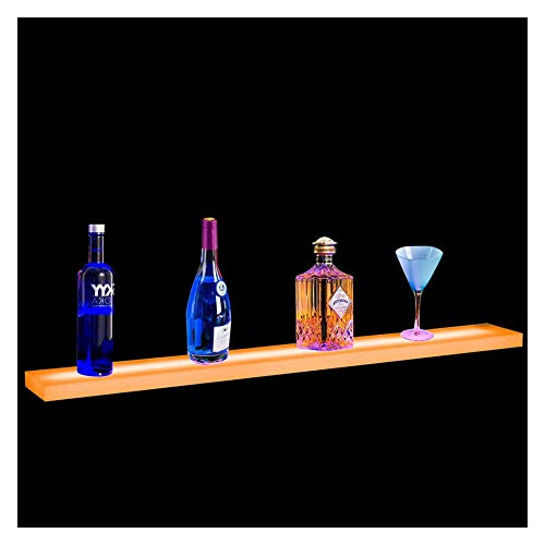 LSGMC Acryl Beleuchtetes Weinregal LED Beleuchteter Alkohol-Flasche Display Kit Bar Regal mit Fernbedienung für Birthday Hochzeit Weihnachtsfeier, Club, Bars,1000 * 110 * 24mm