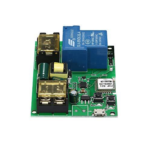 eWeLink Módulo de Relé Inalámbrico de Interruptor Wifi USB DC5V AC85-250V 30A Wifi Switch Control Remoto de Phone APP Interruptor de Temporizador Compatible con Amazon Alexa Google Home Control de Voz