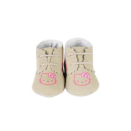 Hello Kitty - Chaussure à Lacet - bébé Fille - Camel