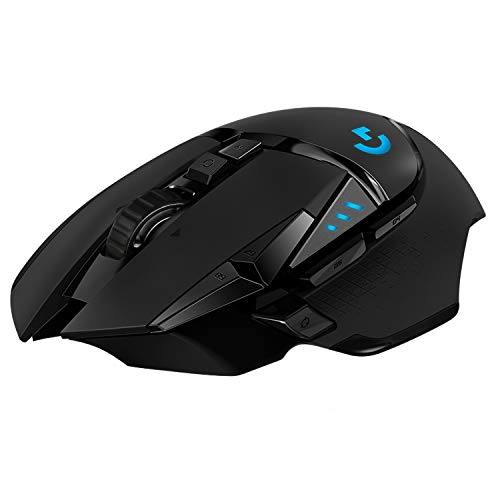 Logitech G502 LIGHTSPEED Wireless Gaming Mouse, HERO 16K Sensor, 16,000 DPI, RGB, Adjustable Weights, 11 Programmable Buttons, Long Battery Life, On-Board Memory, PC / Mac - Black