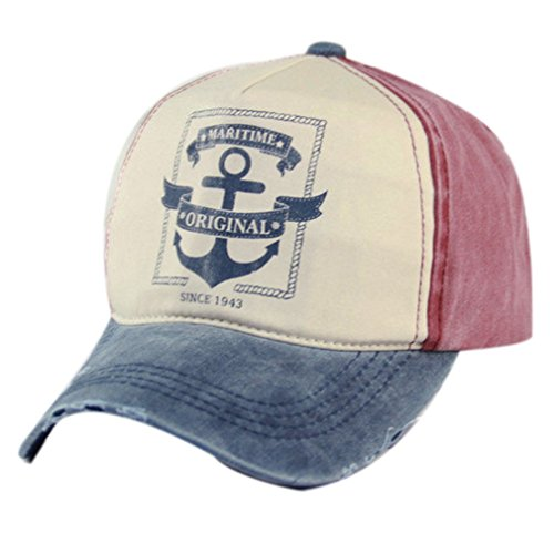 Belsen Damen Vintage Maritime Baseball Cap Snapback Trucker Hat (Marine)