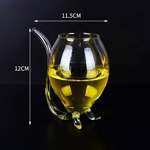 ZFLL Wijnglas, 300 ml, rodewijnglas, kop, whisky, glas, hittebestendig glas, zuigen, sap, melk, thee, wijn, kopje met drinkopje