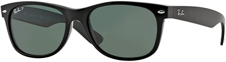 Ray-Ban New Wayfarer Black W/ Green Polarized Lenses RB 2132 901/58 58mm Large