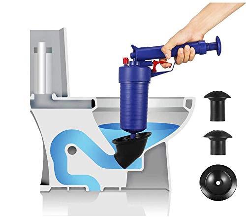 wcwwfn Toilettenkolben,Kolbendruck-Ablasspumpe - Rohrbaggerwerkzeug - Pneumatisches Ablassrohr - Geeignet Für Badewannen-Hochdruck-Ablassöffner