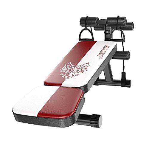 LHY Sitzbare Sitzbank Verstellbare, Faltbare Bauchmuskeltrainings-Schrägbank, Gebogene Bauchbank Mit 3 Einstellbaren Höheneinstellungen