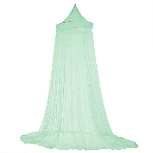 Fdit Bett Moskitonetz Bett Baldachin Vorhänge Elegante Spitze Prinzessin Kinder Baldachin Vorhang für Mädchen Zimmer Bettwäsche(Grün)