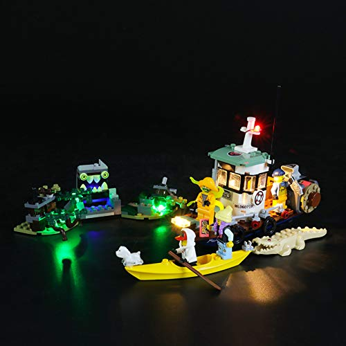 Kit De Iluminación Led para Lego Hidden Side Camaronero Encallado,Compatible con Ladrillos De Construcción Lego Modelo 70419(NO Incluido En El Modelo)