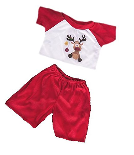 Reindeer PJs Pyjamas Teddy Bear Outfit Clothes to fit 8 to 10 inch (20cm) bear