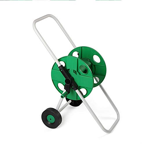 Garden Hose Holder Portable 45m Water Pipe With Wheels Garden Hose Storage Lightweight Water Pipe Storage Rack Green Water Hose Holde r Garden Hose Reel (Color : Green, Size : HBS-069)