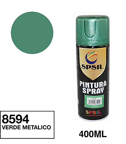 Spsil 8594 Pintura Spray Verde Metalizado 400 Ml